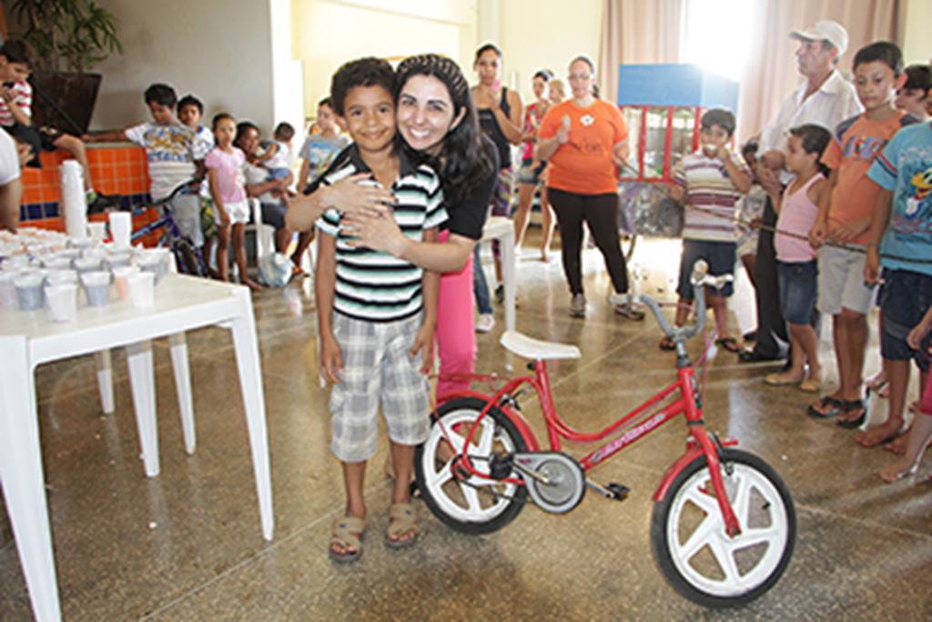Durante a festa foram sorteadas 4 bicicletas patrocinadas pela empresa Alencar Bike